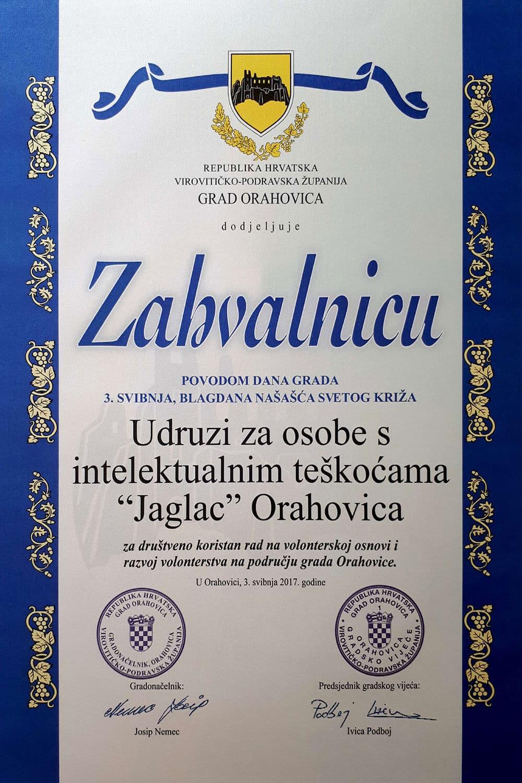 volonterska nagrada